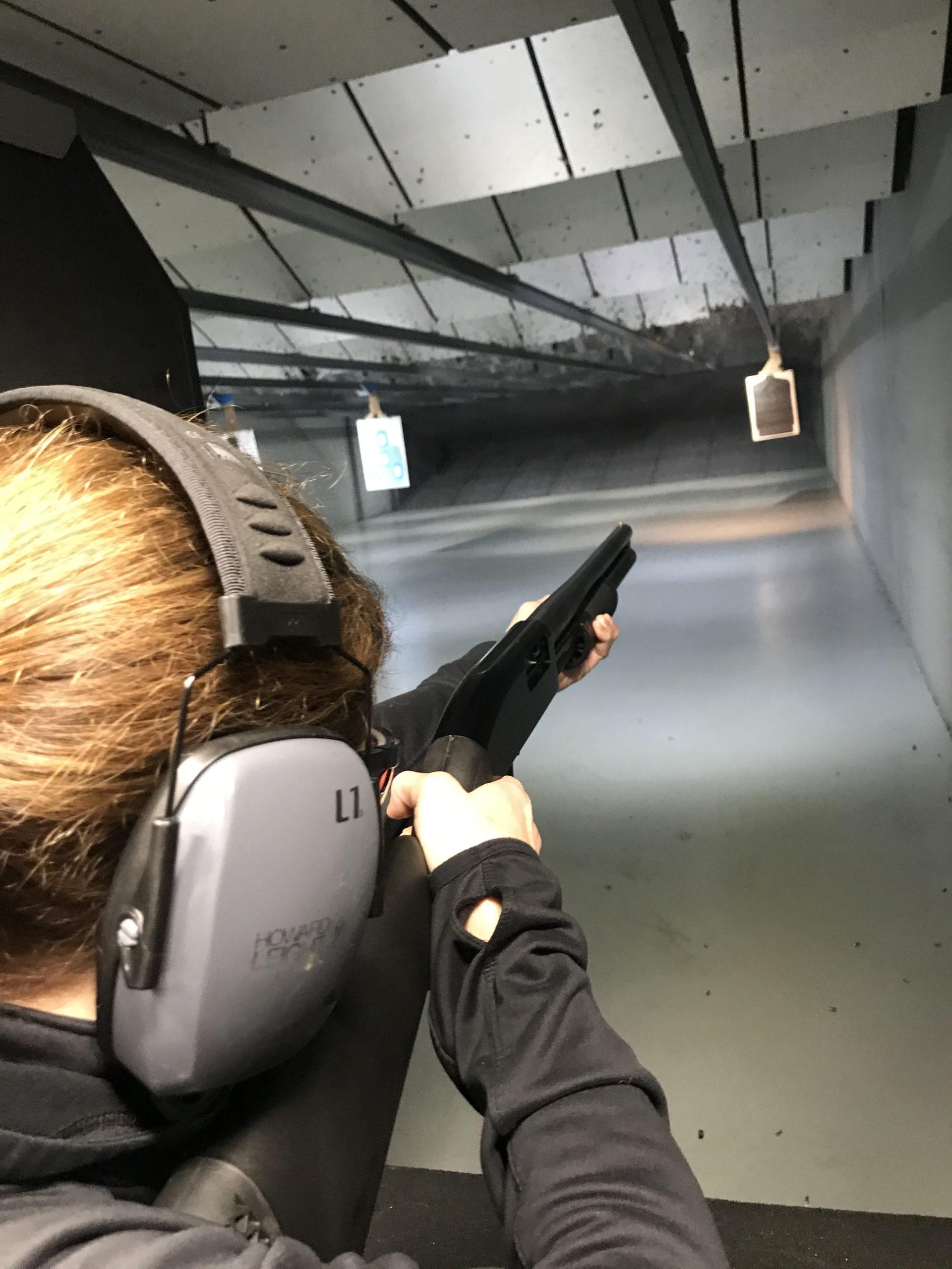 Woman Shooting at the Range | Pew Pew Guru